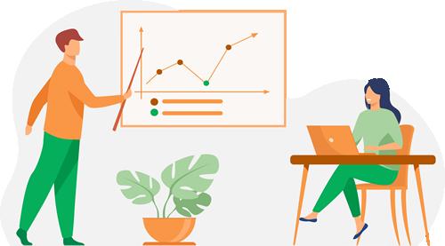 Ilustração Graficos e Cotações Mercado do Ovo